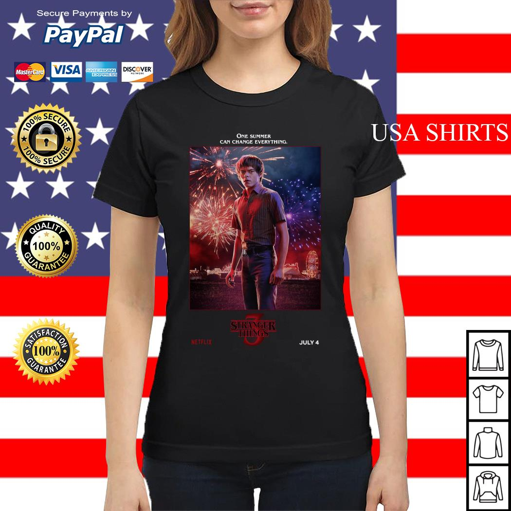 Jonathan Byers One Summer Can Change Everything Stranger Things Ladies tee