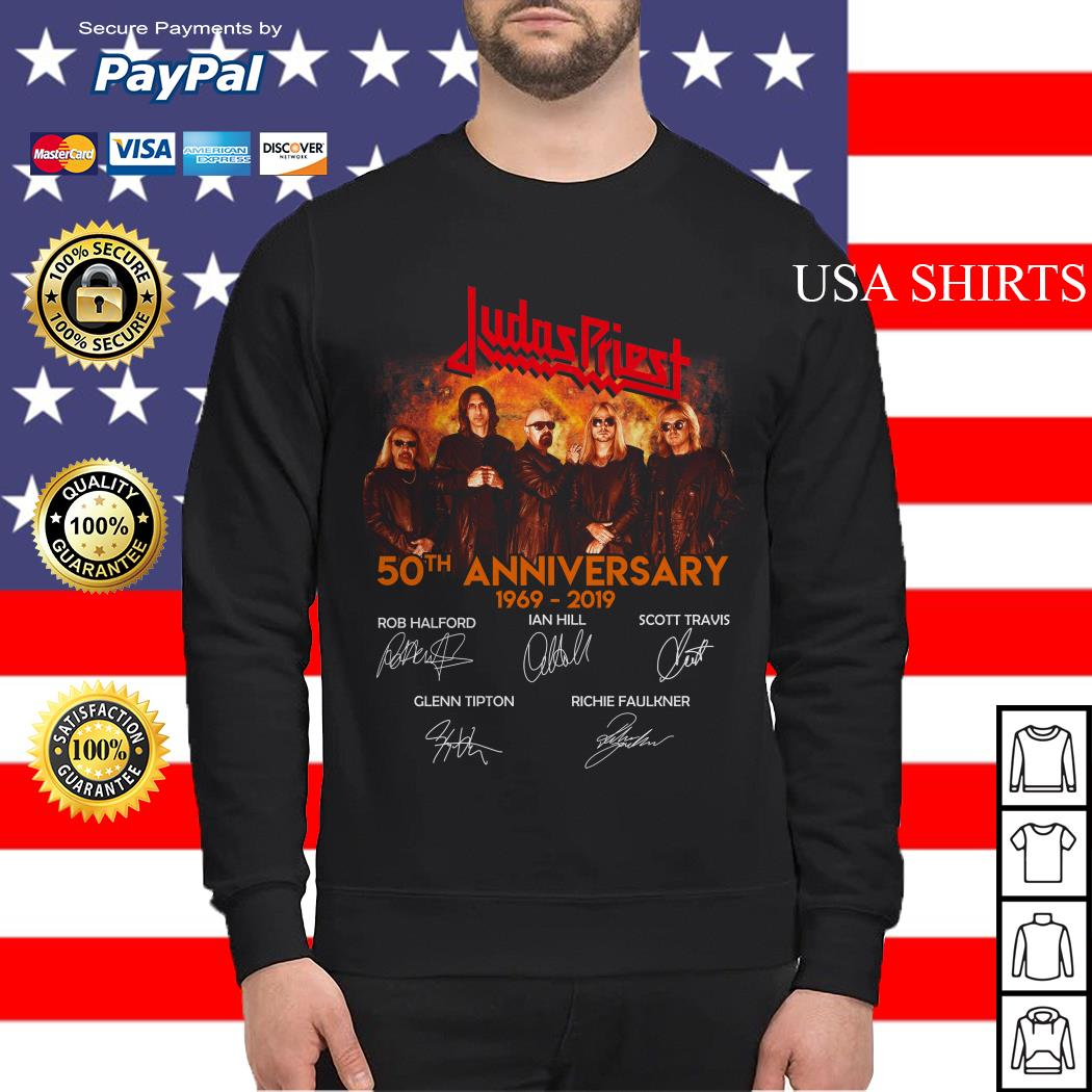 Judas Priest 50th Anniversary 1969 2019 signature Sweater