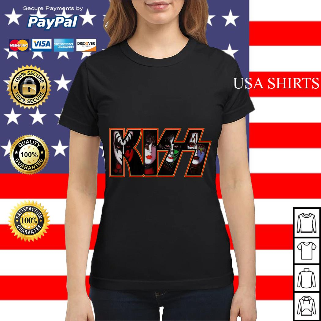 Kiss band end of the road america world tour 2019 Ladies tee