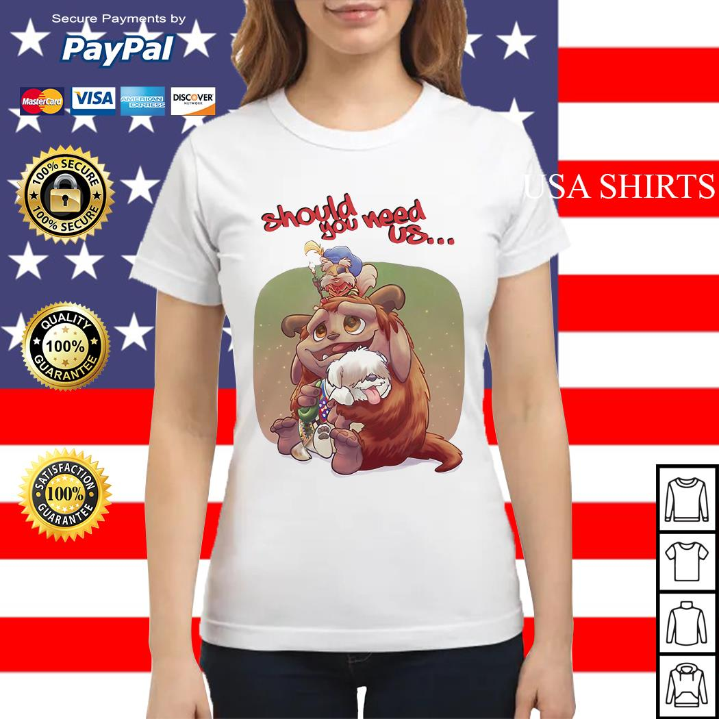 Labyrinth Should you need us Ladies tee