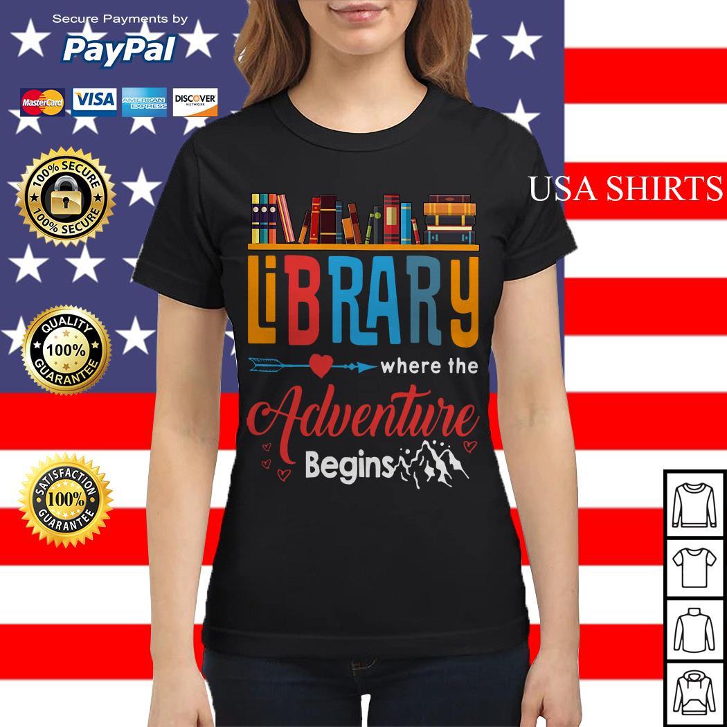 Library where the adventure begins Ladies tee