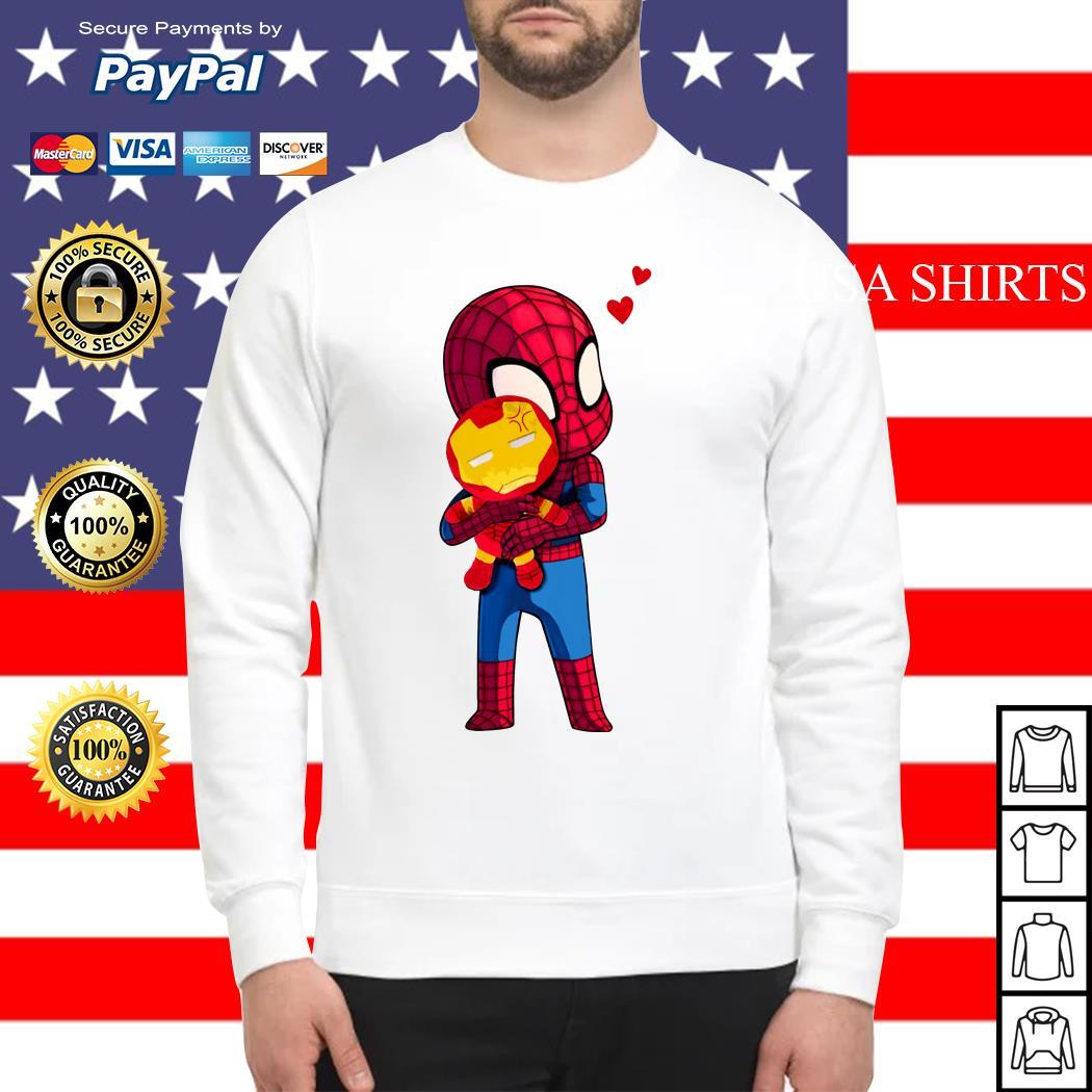 Lovely Spider Man Hug baby Iron Man Sweater
