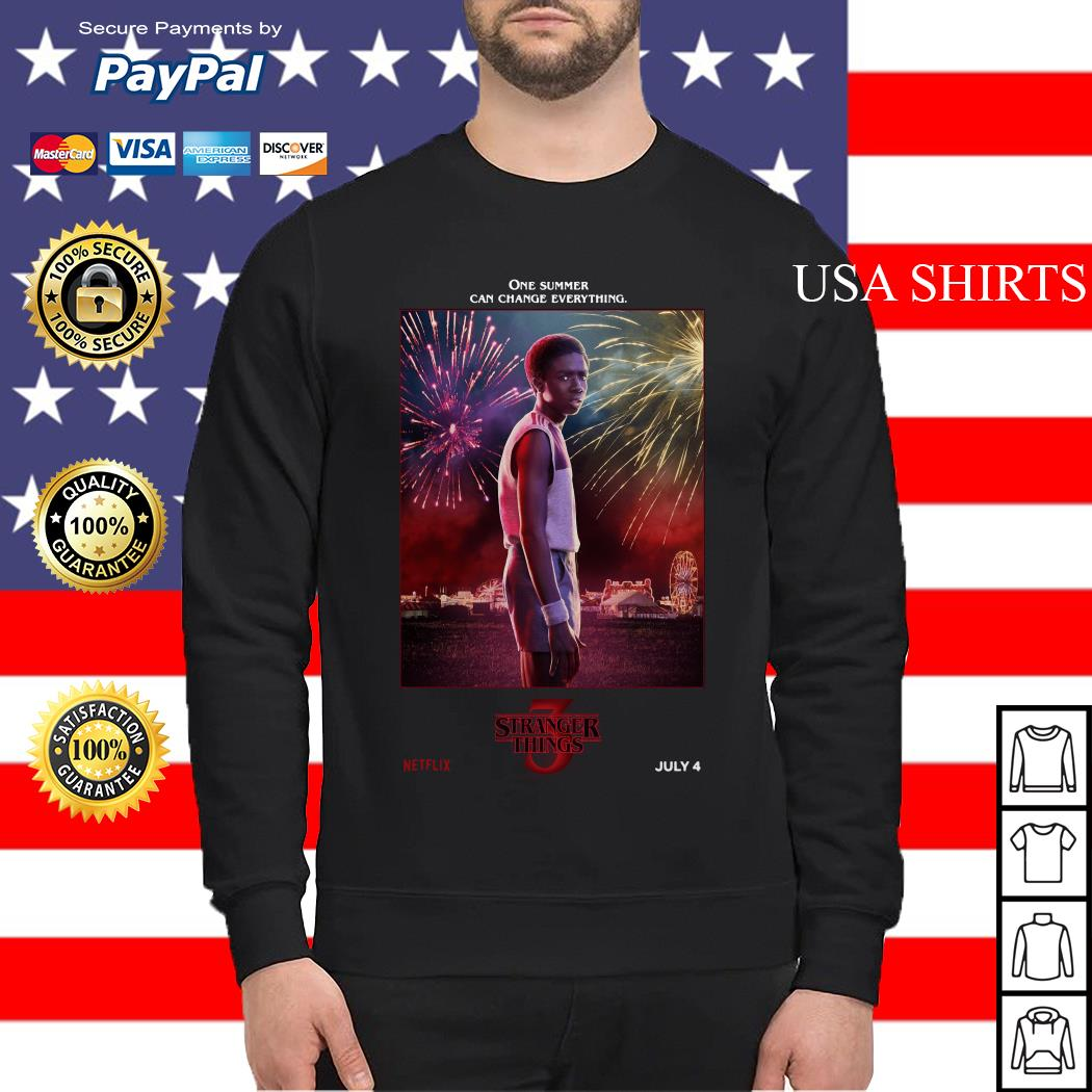 Lucas Sinclair One Summer Can Change Everything Stranger Things Sweater