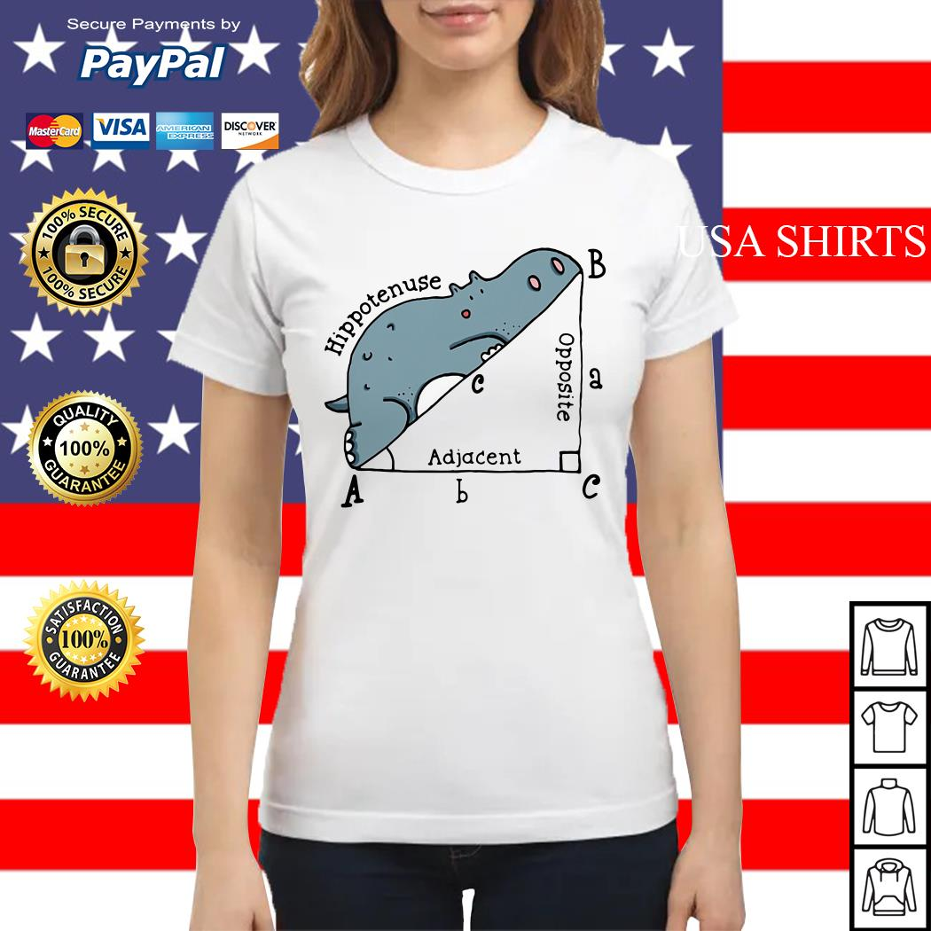 Math Humor Hippotenuse Adiacent Opposite Ladies tee