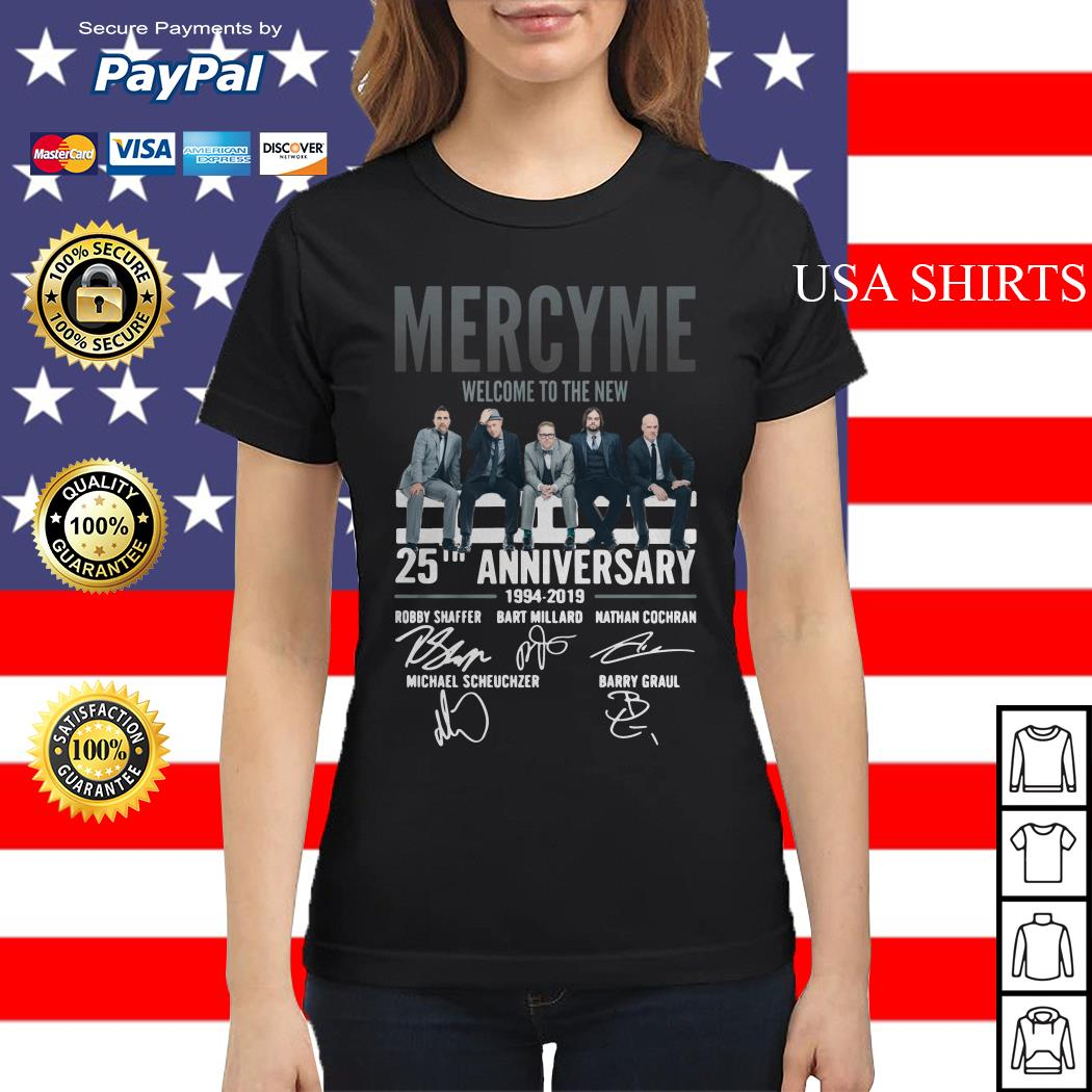 Mercyme Welcome To The New 25th Anniversary Ladies tee