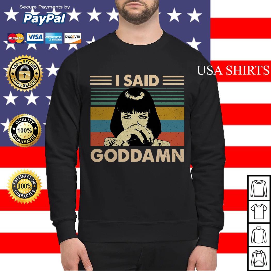 Mia Wallace I said goddamn vintage Sweater