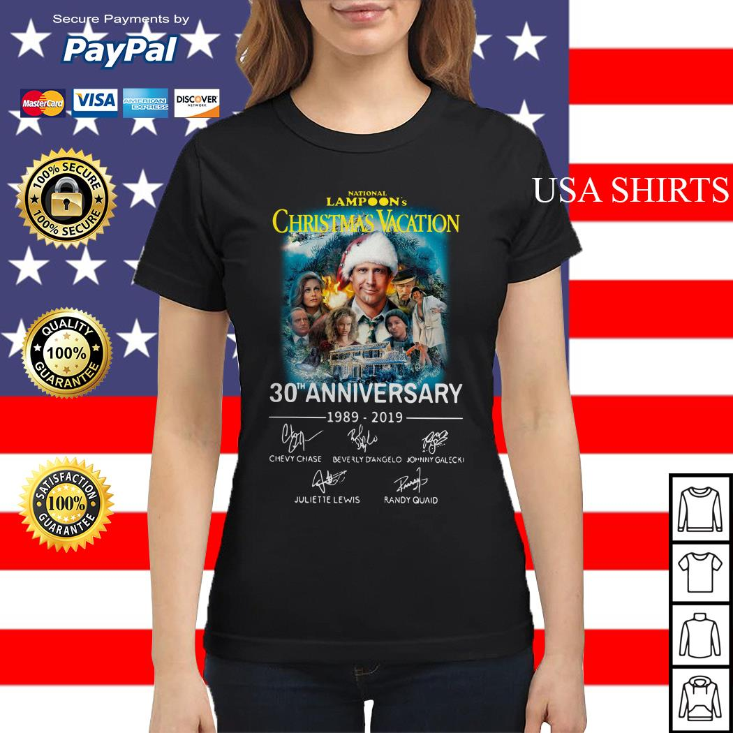 National Lampoon's Christmas Vacation 30th Anniversary 1989-2019 Ladies tee