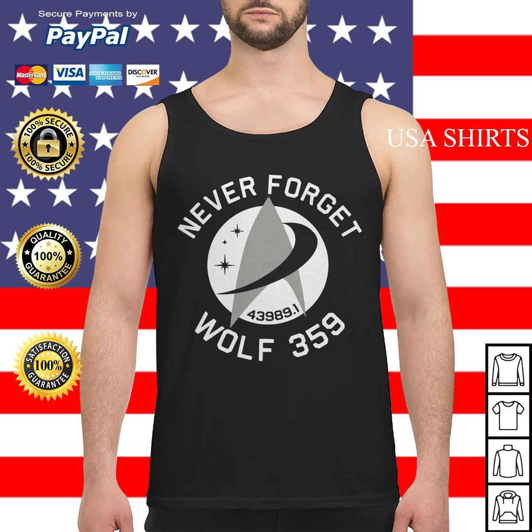 Never Forget Wolf 359 Tank top