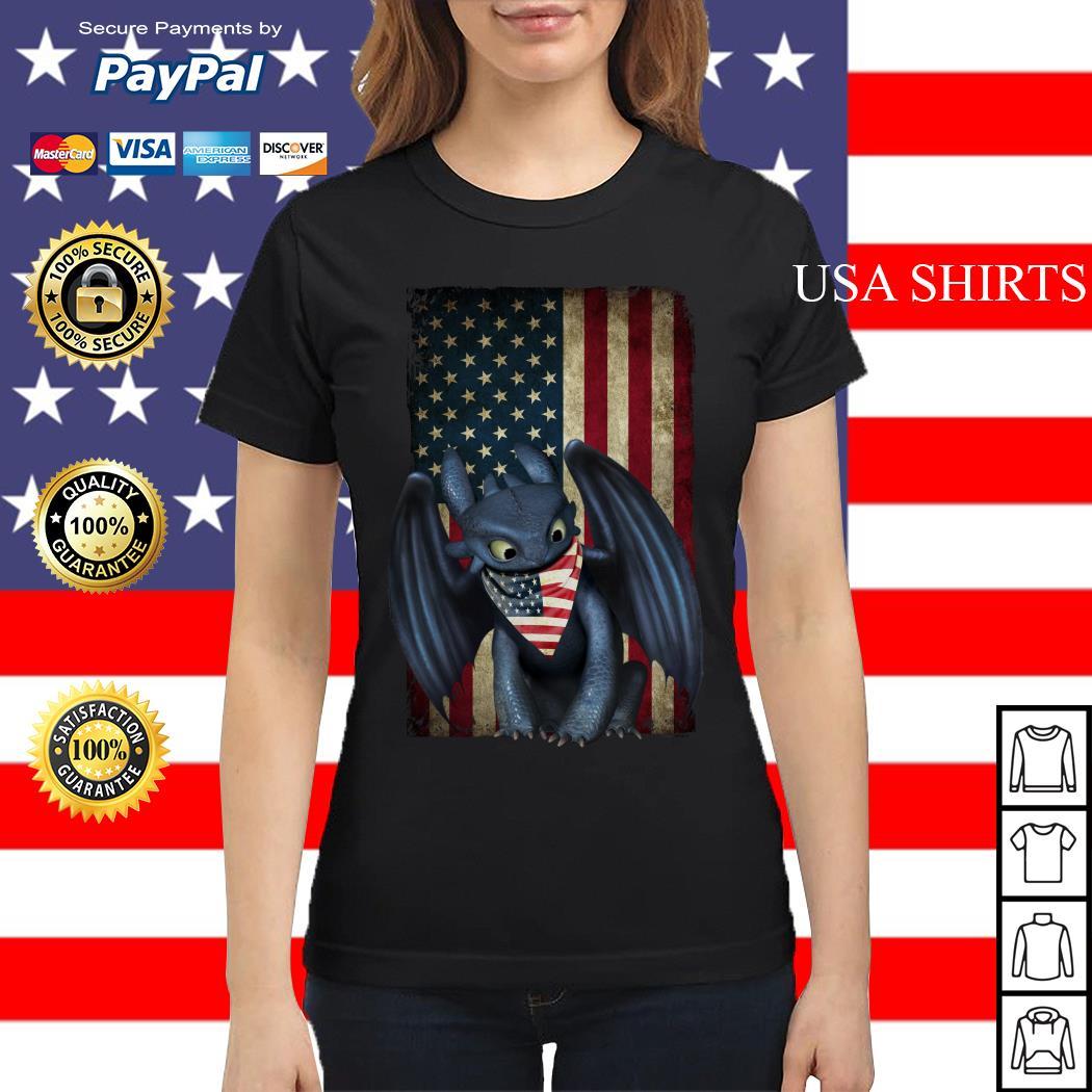 Night Fury American flag Independence day Ladies tee