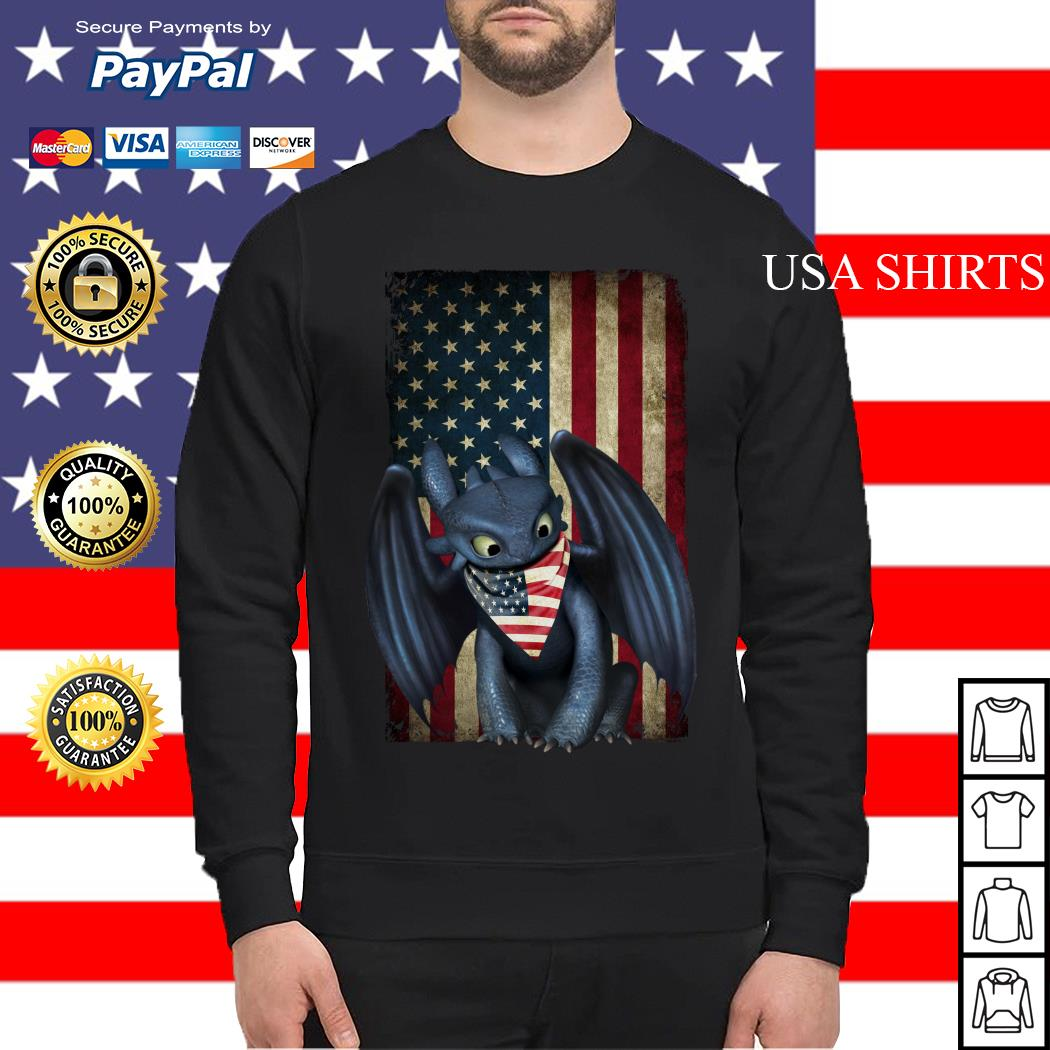 Night Fury American flag Independence day Sweater