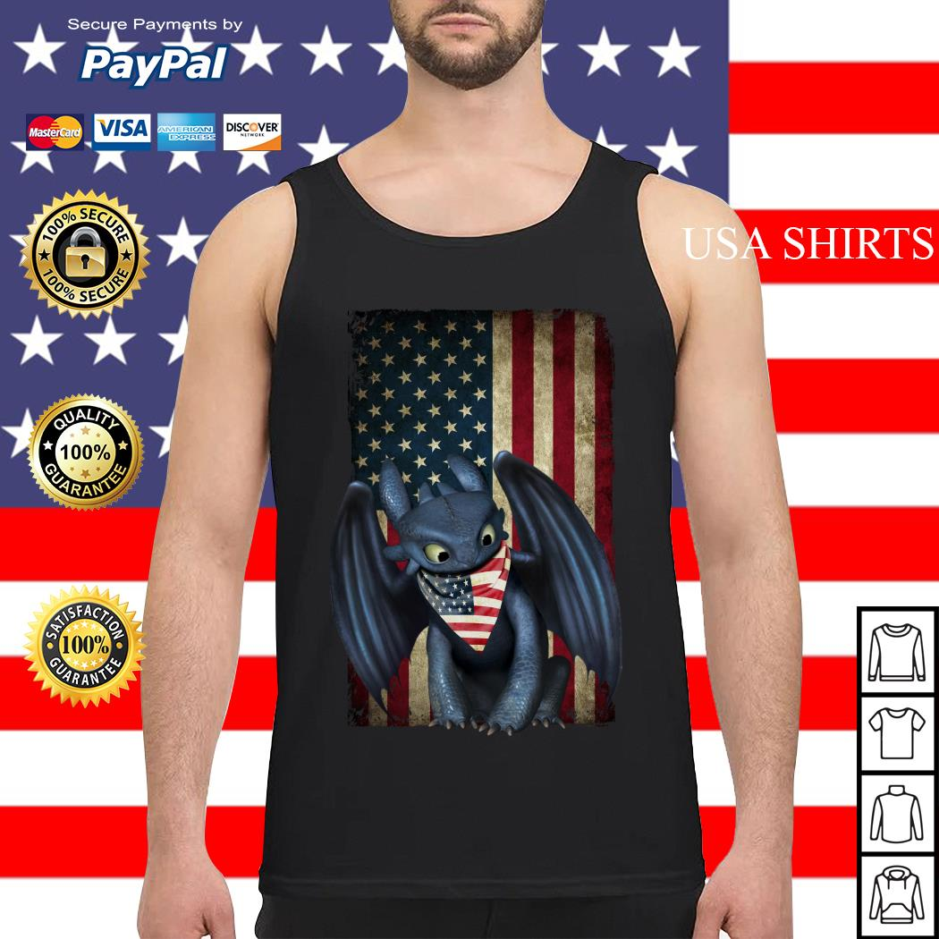 Night Fury American flag Independence day Tank top
