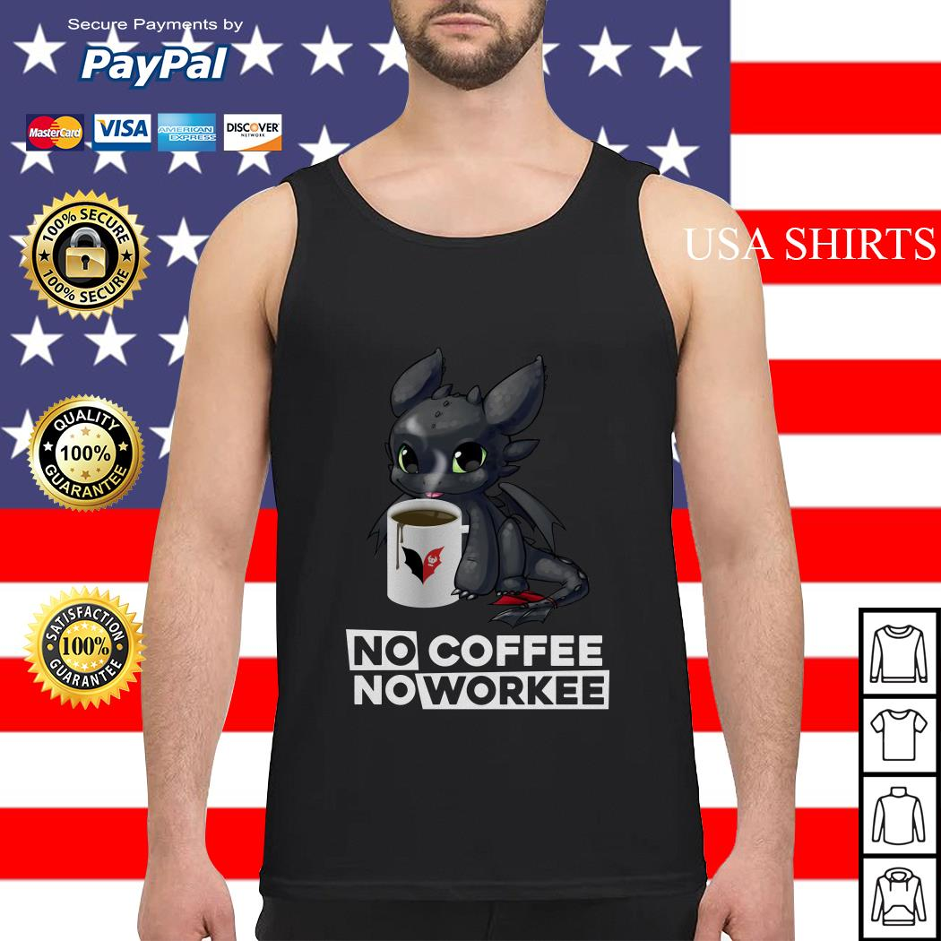 Night Fury no coffee no workee Tank top