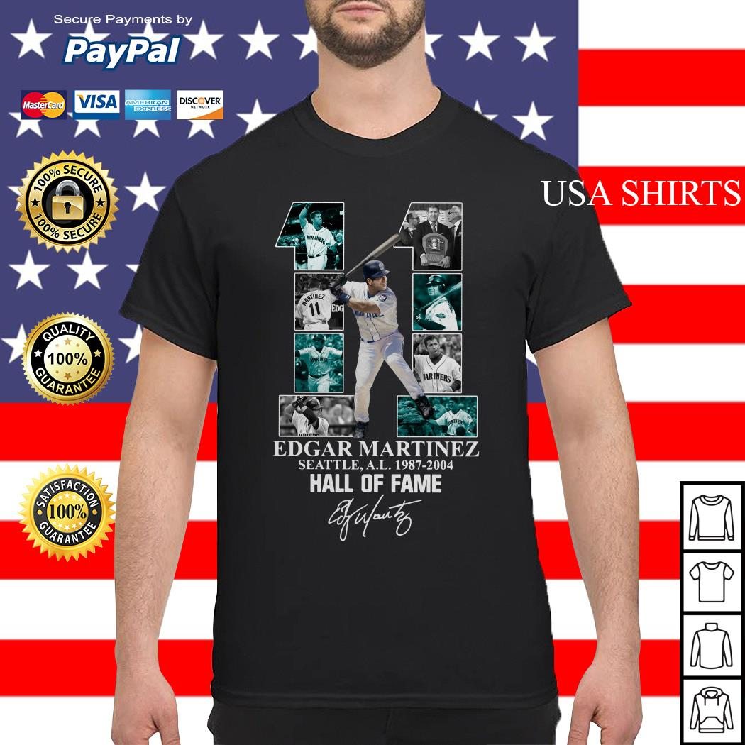 Official 11 Edgar Martinez Seattle A.L 1987 2004 Hall of fame shirt