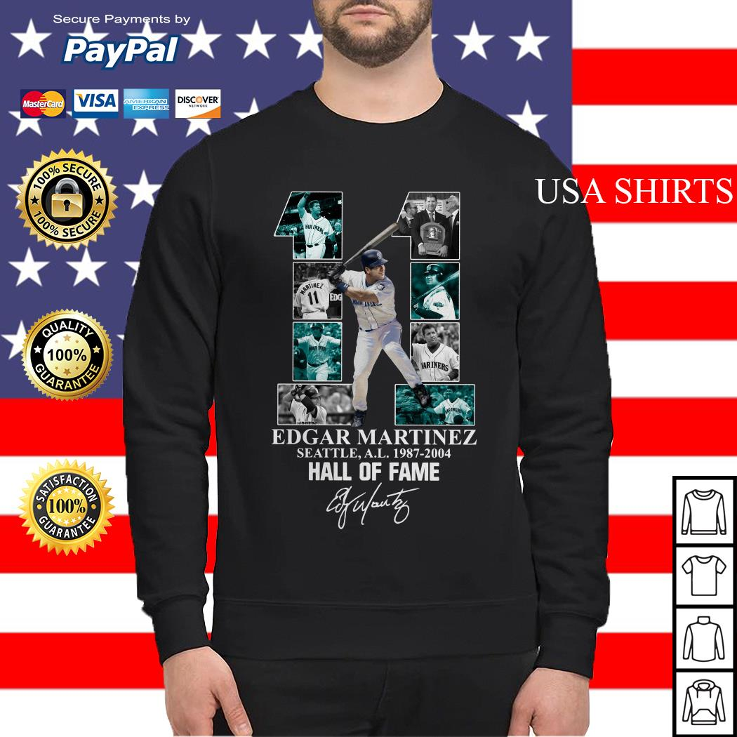 Official 11 Edgar Martinez Seattle A.L 1987 2004 Hall of fame Sweater