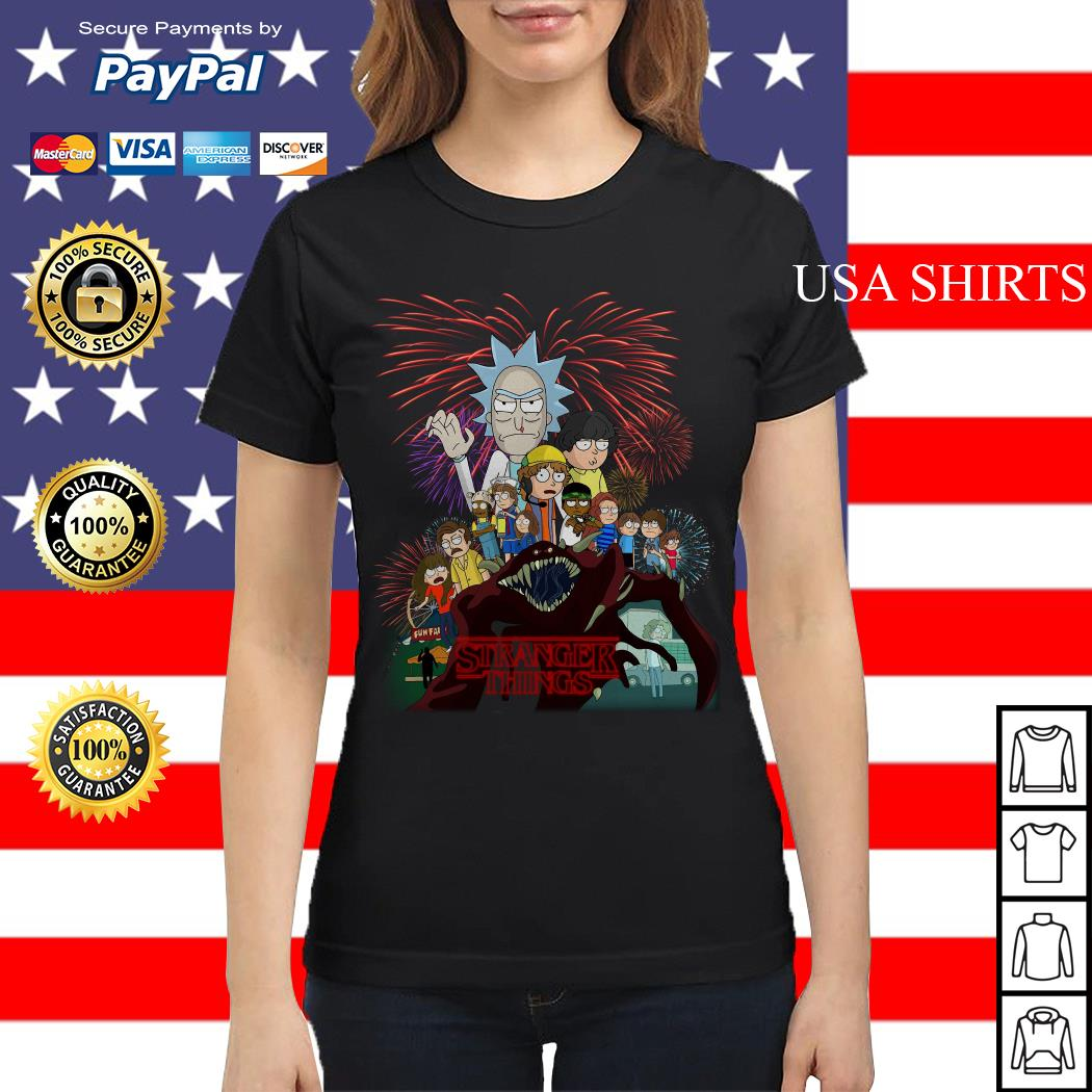 Official Rick and Morty Stranger Things Ladies tee