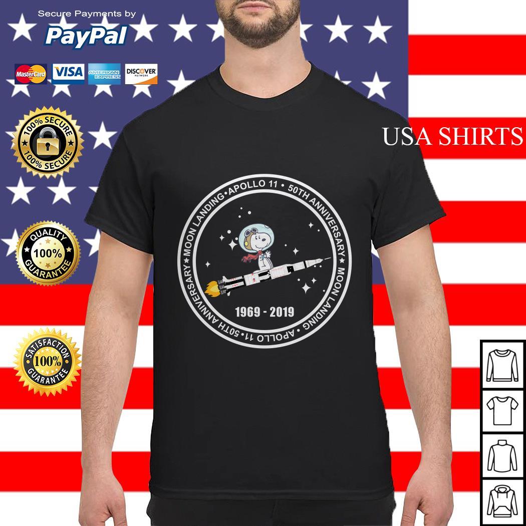 Official Snoopy moon landing apollo 11 50th anniversary shirt