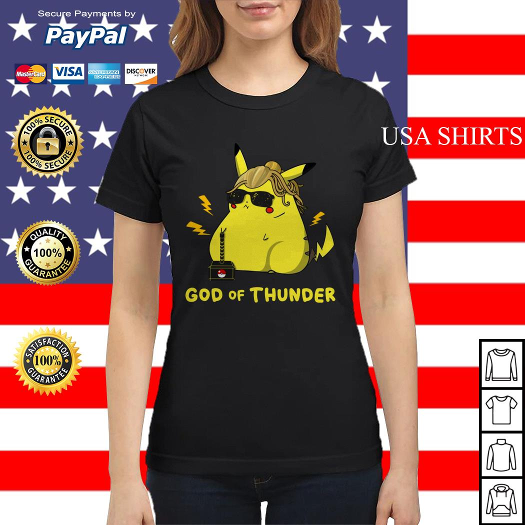 Pikachu God of thunder Ladies tee