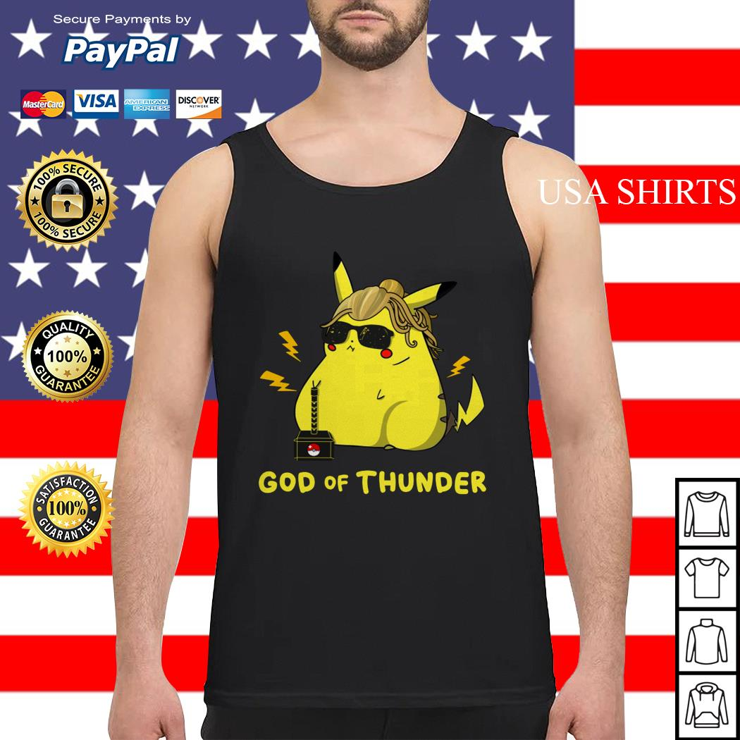 Pikachu God of thunder Tank top