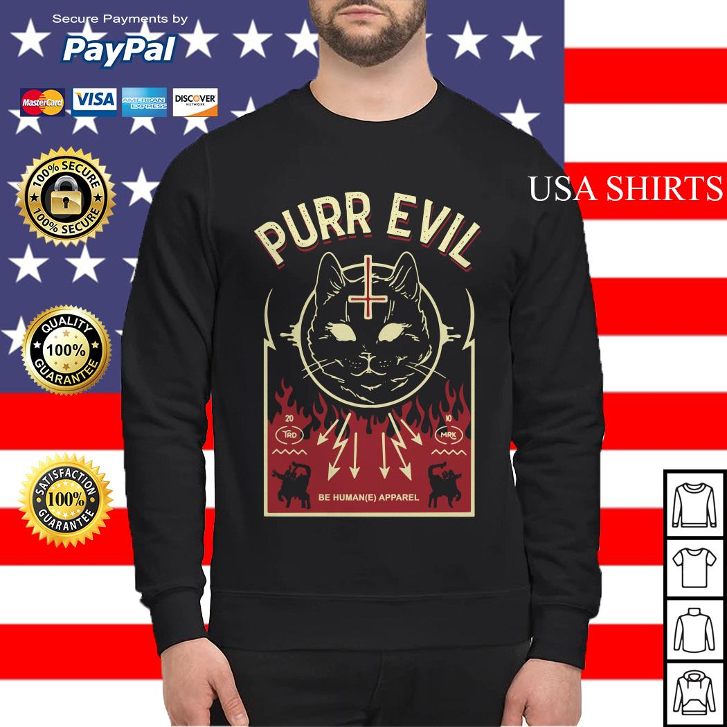 Purr Evil Satanic Cat case Sweater