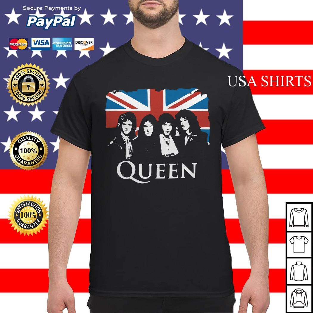 Queen and Flag of the United Kingdom of Great Britain shirt