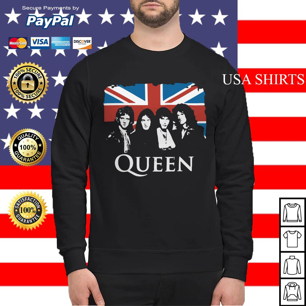 Queen and Flag of the United Kingdom of Great Britain Sweater