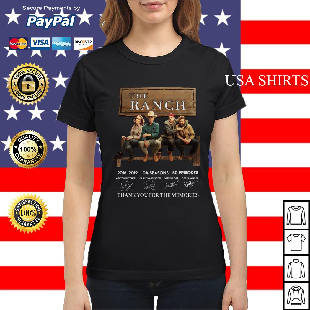 The Ranch 2016 2019 04 season thank you for the memories signature Ladies tee