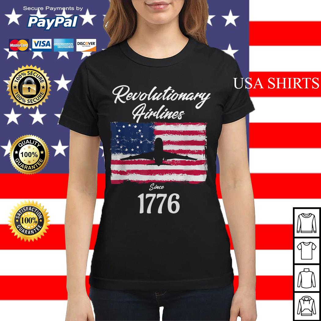 Revolutionary airlines since 1776 flag American Ladies tee