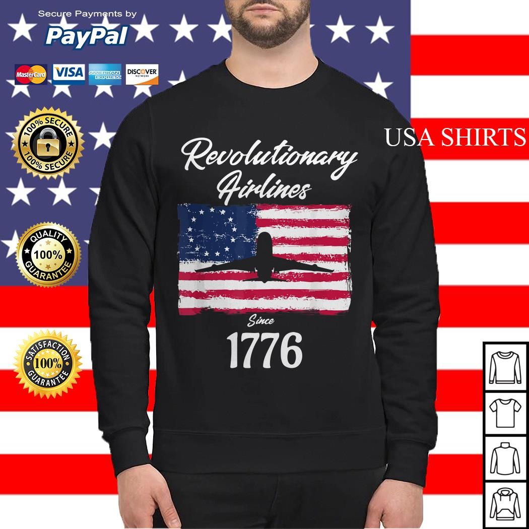 Revolutionary airlines since 1776 flag American Sweater