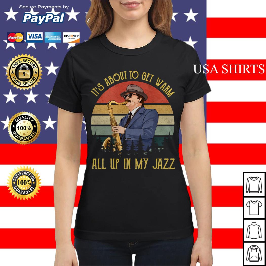 Ron Swanson Duke Silver It's about to get warm all up in my Jazz Ladies tee