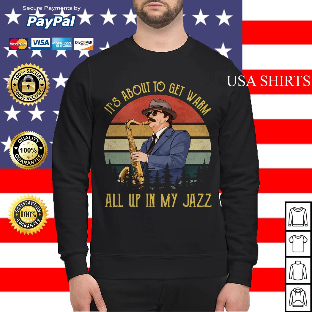 Ron Swanson Duke Silver It's about to get warm all up in my Jazz Sweater