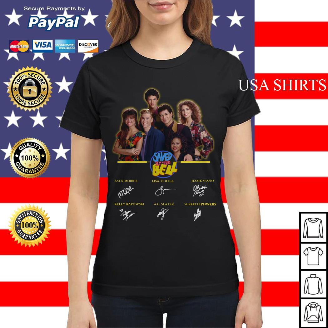 Saved by the bell characters signatures Ladies tee