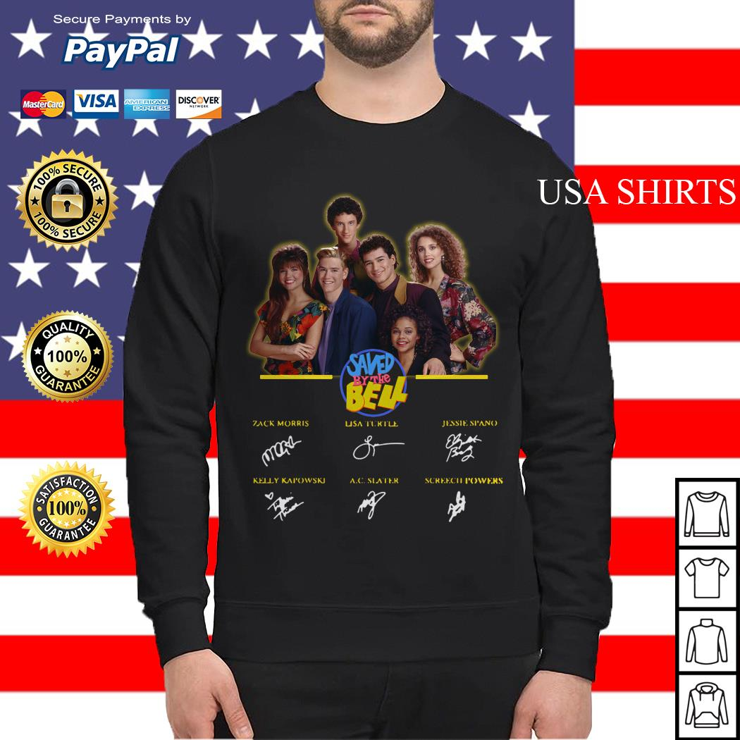 Saved by the bell characters signatures Sweater