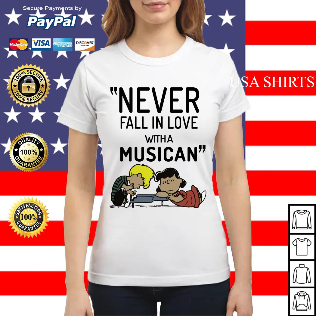 Schroeder never fall in love with a musician Ladies tee