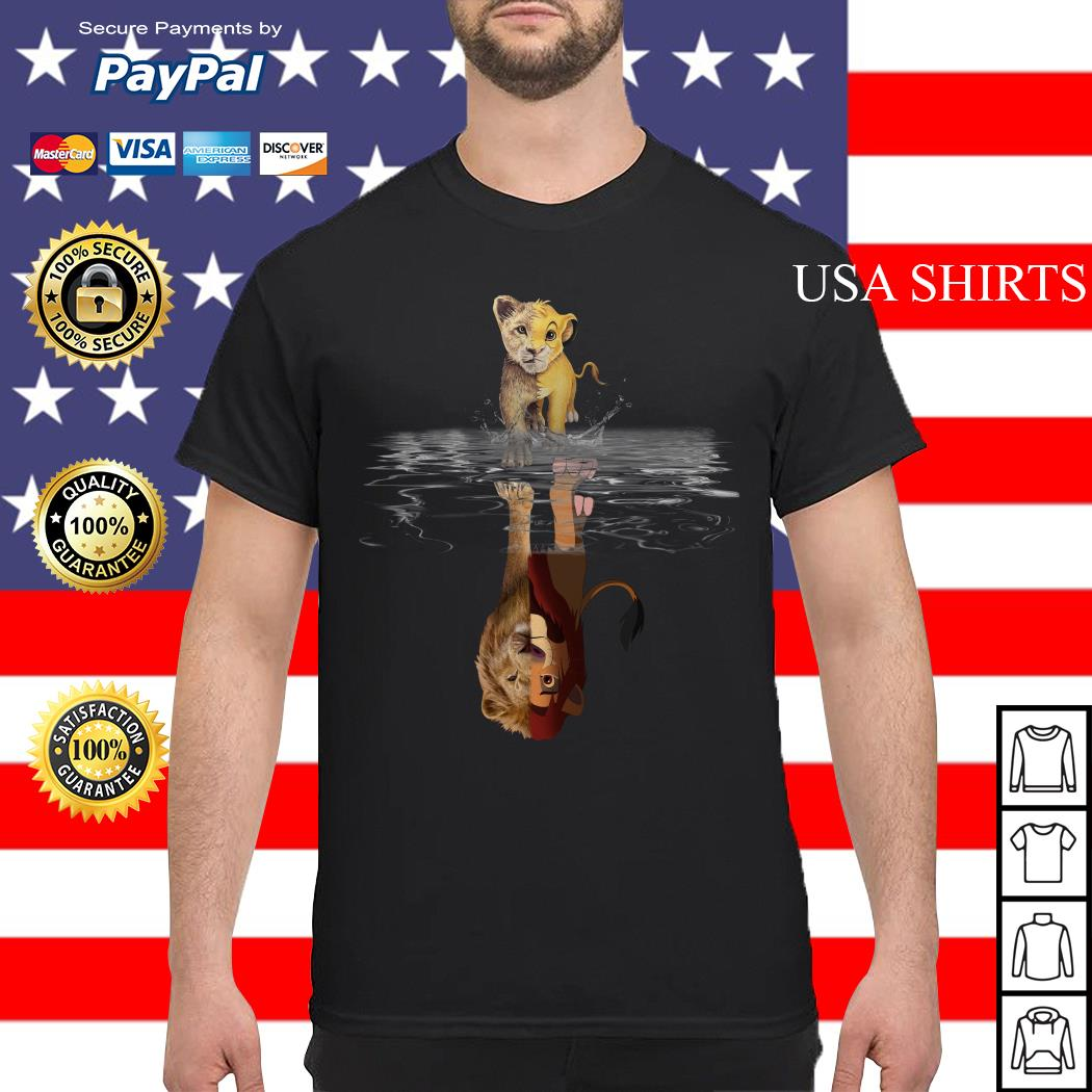 Simba Lion king water mirror reflection Mufasa shirt