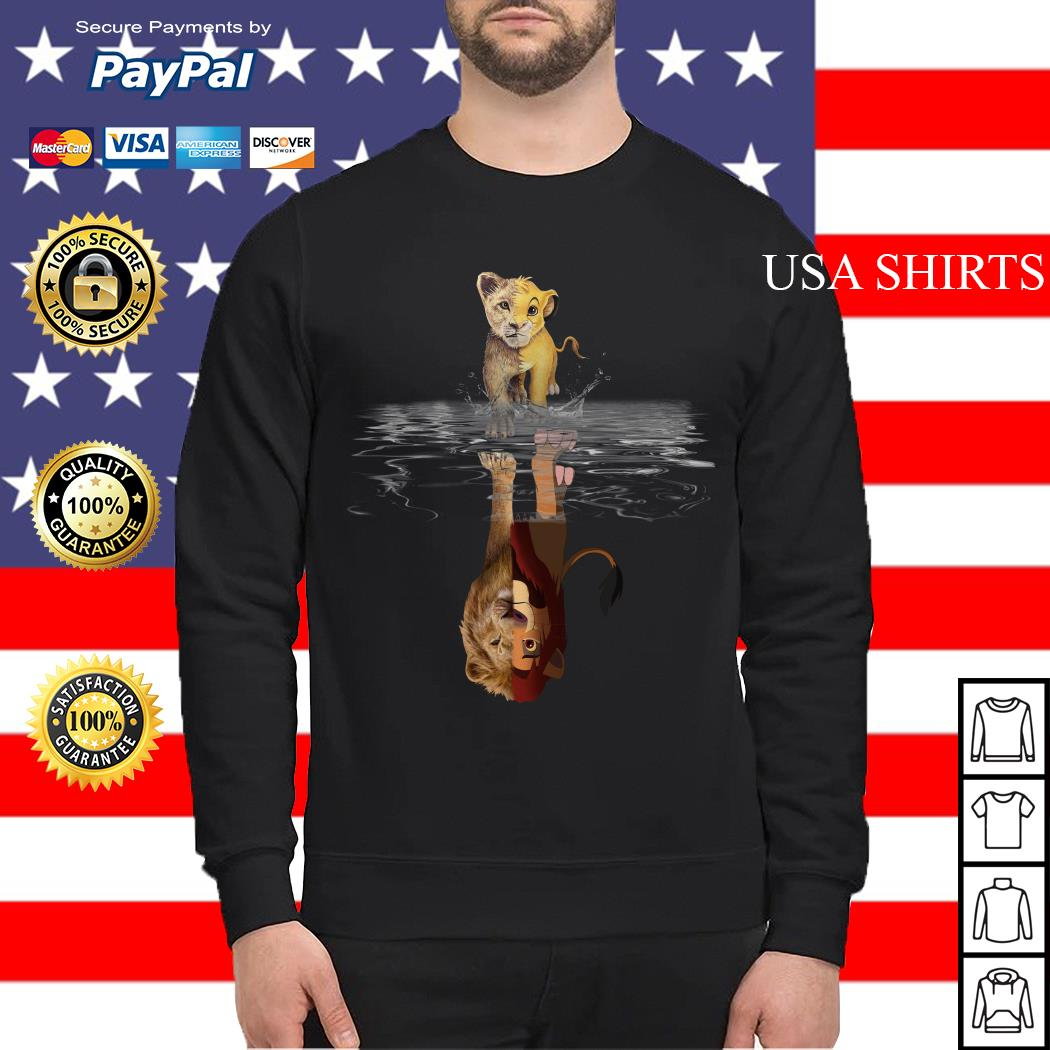 Simba Lion king water mirror reflection Mufasa Sweater