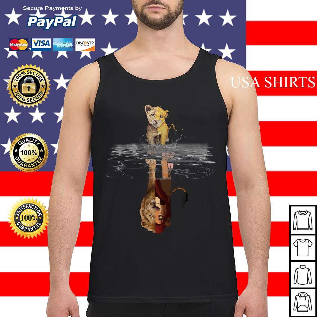 Simba Lion king water mirror reflection Mufasa Tank top