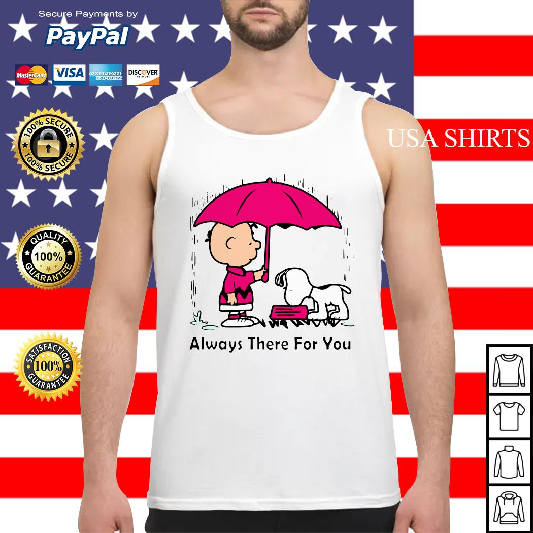 Snoopy and Chair Brown always there for you Tank top