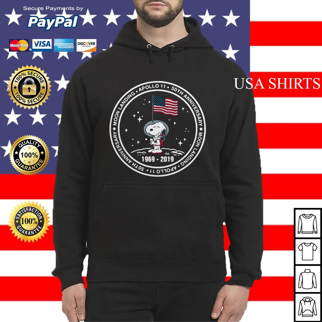 Snoopy moon landing Apollo 11 50th Anniversary Hoodie