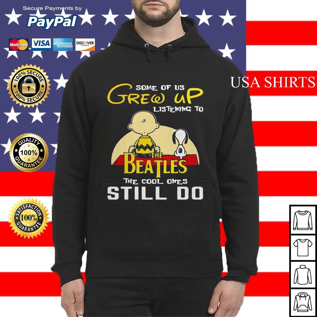 Snoopy and Peanut some of us grew up listening to The Beatles Hoodie