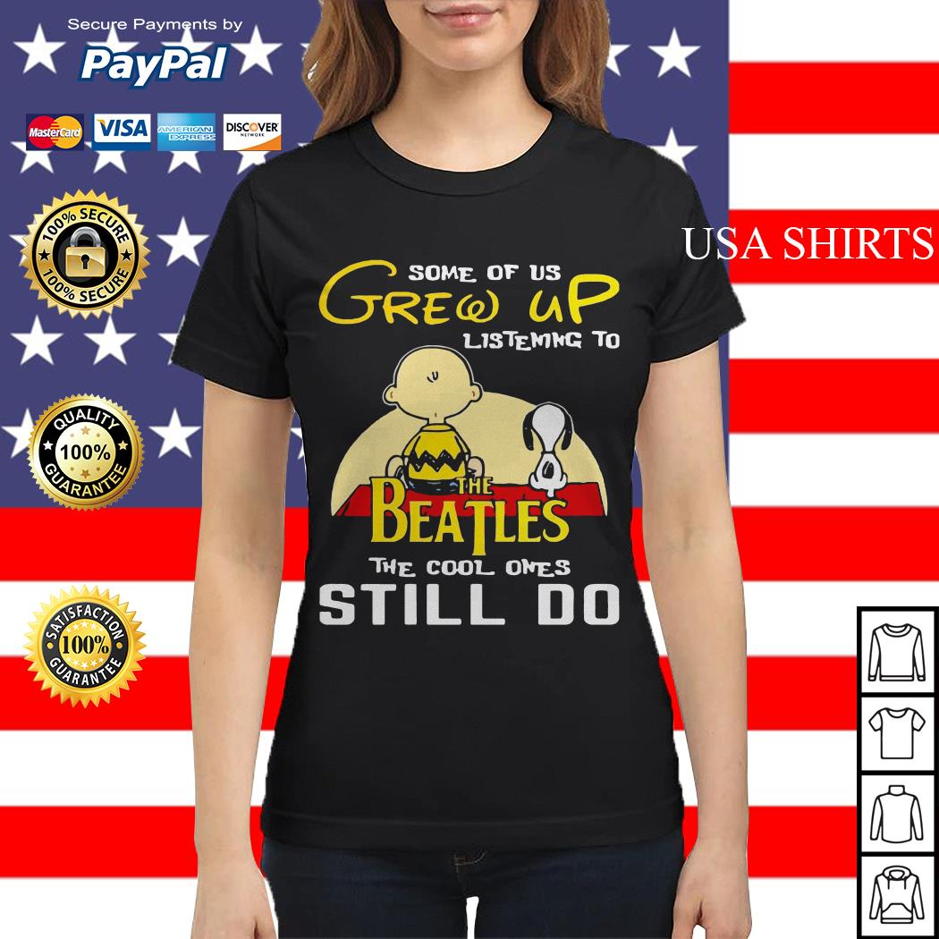 Snoopy and Peanut some of us grew up listening to The Beatles Ladies tee