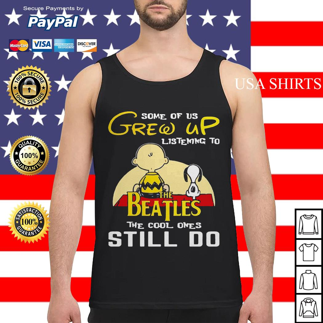 Snoopy and Peanut some of us grew up listening to The Beatles Tank top