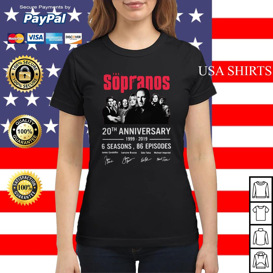 The Sopranos 20th anniversary 1999 2019 6 seasons 86 episodes Ladies tee