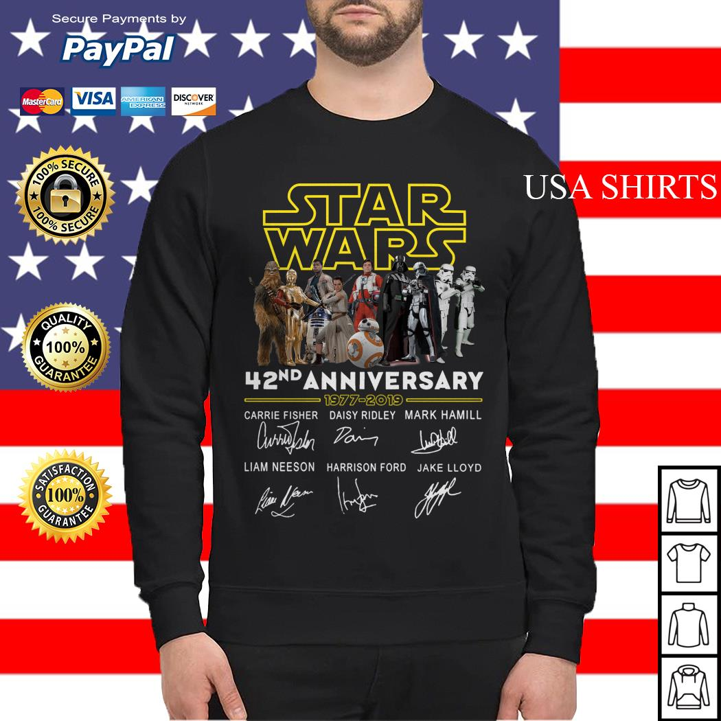 Star wars 42nd anniversary 1977-2019 signatures Sweater