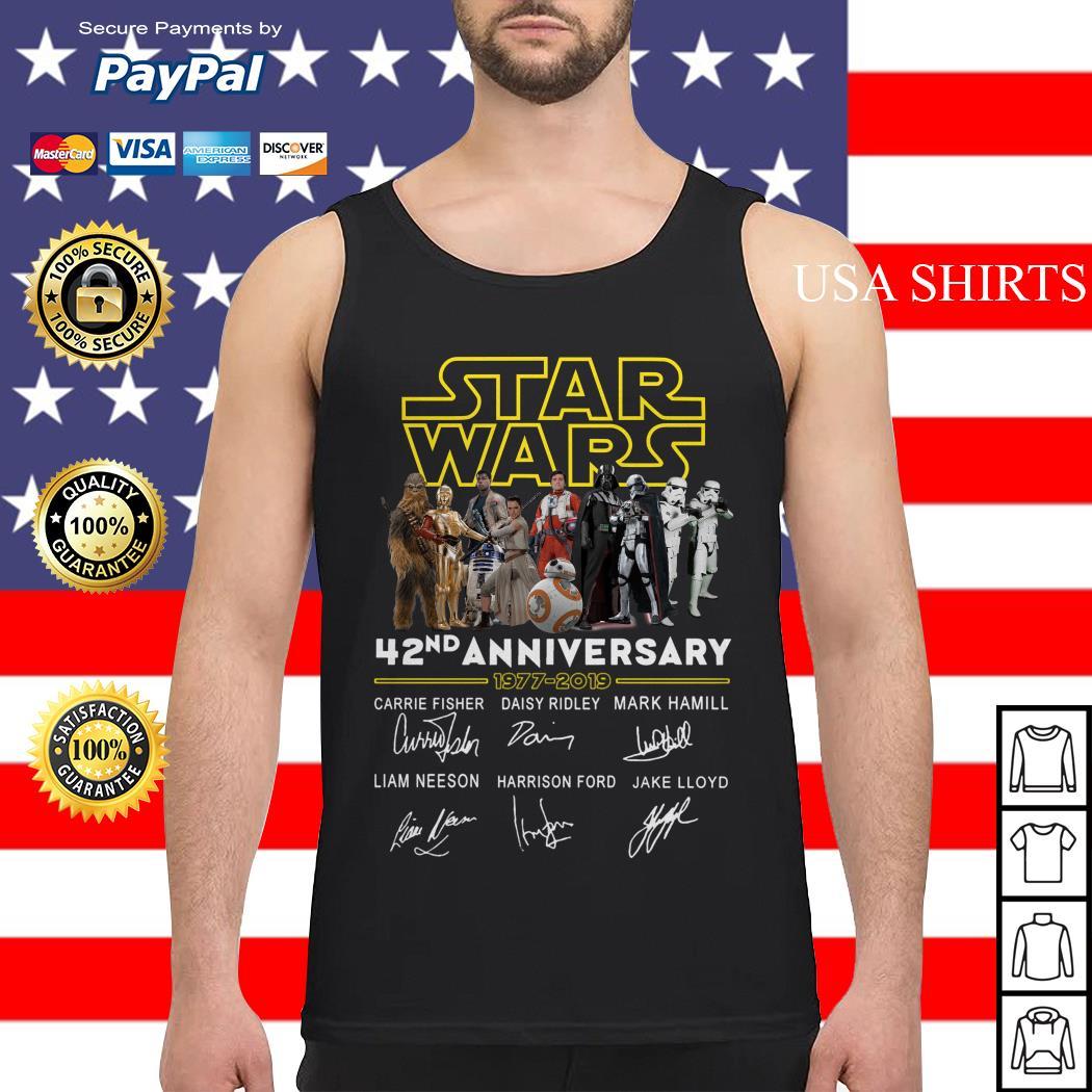 Star wars 42nd anniversary 1977-2019 signatures Tank top