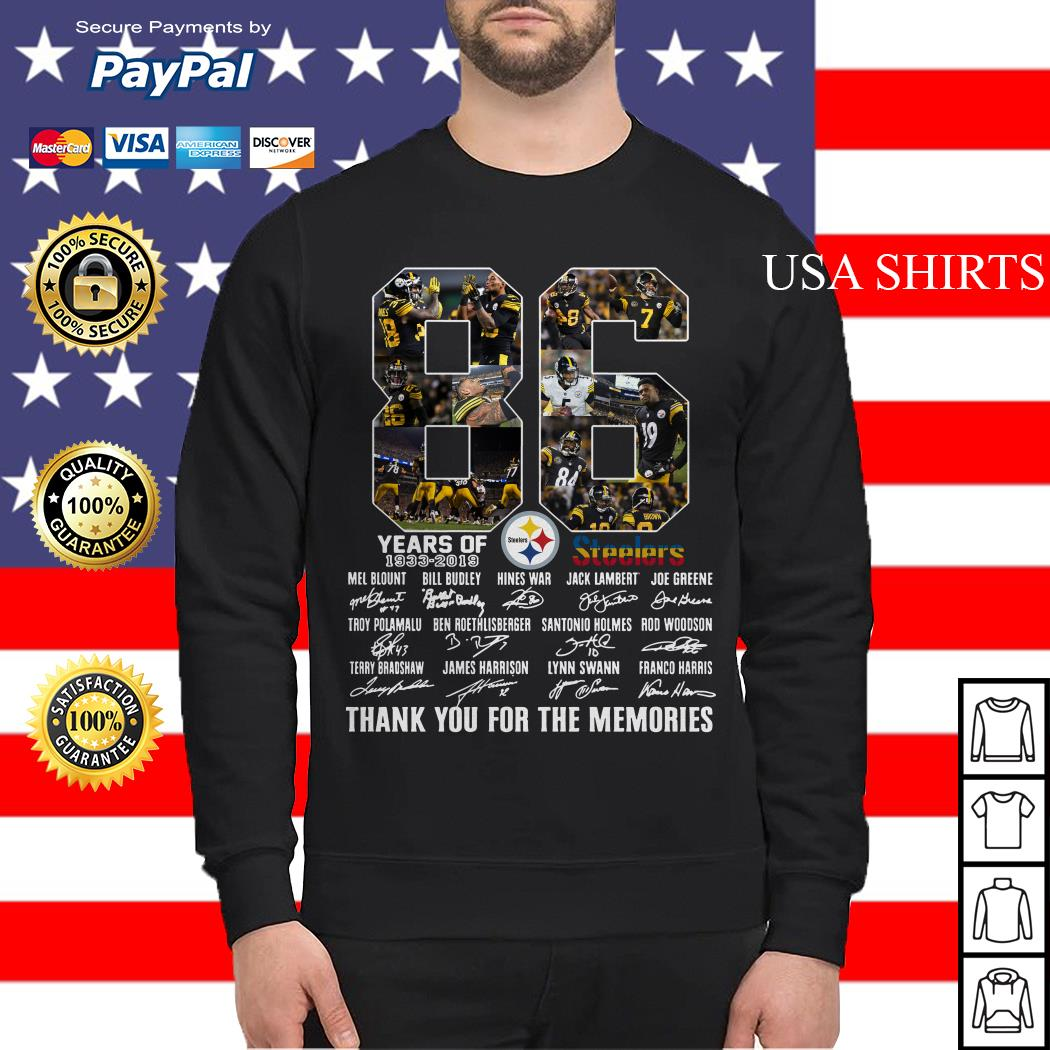 Steelers 86th Anniversary 1933 2019 Sweater