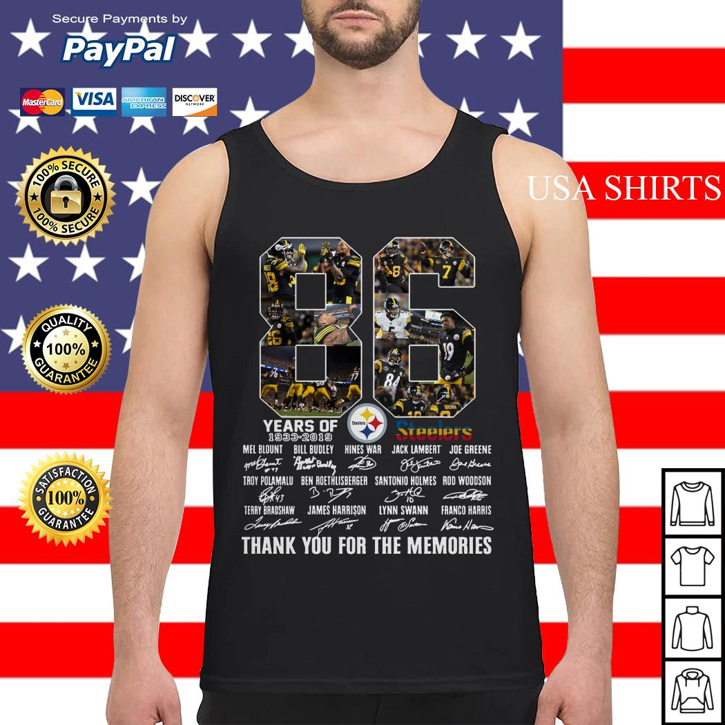 Steelers 86th Anniversary 1933 2019 Tank top