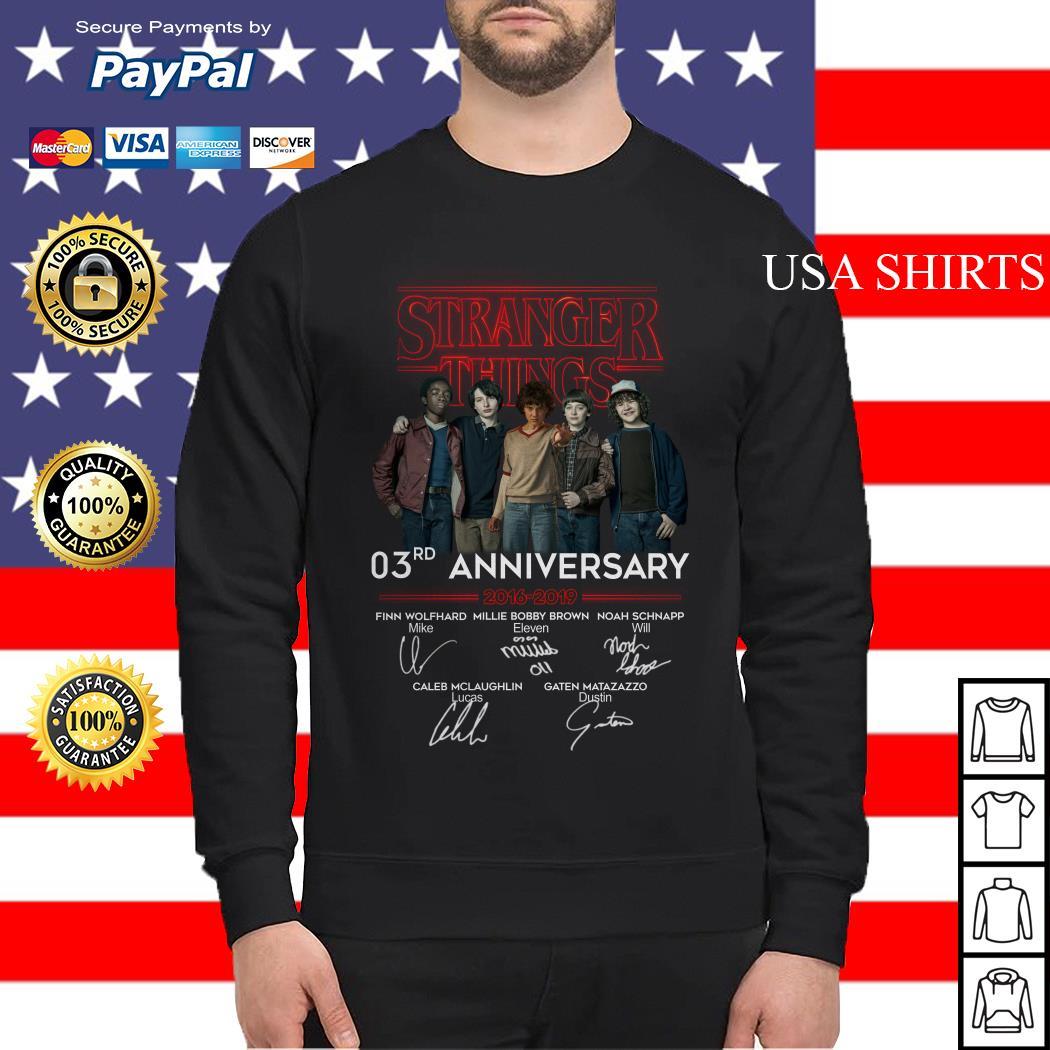 Stranger things 3RD anniversary 2016 2019 signature Sweater