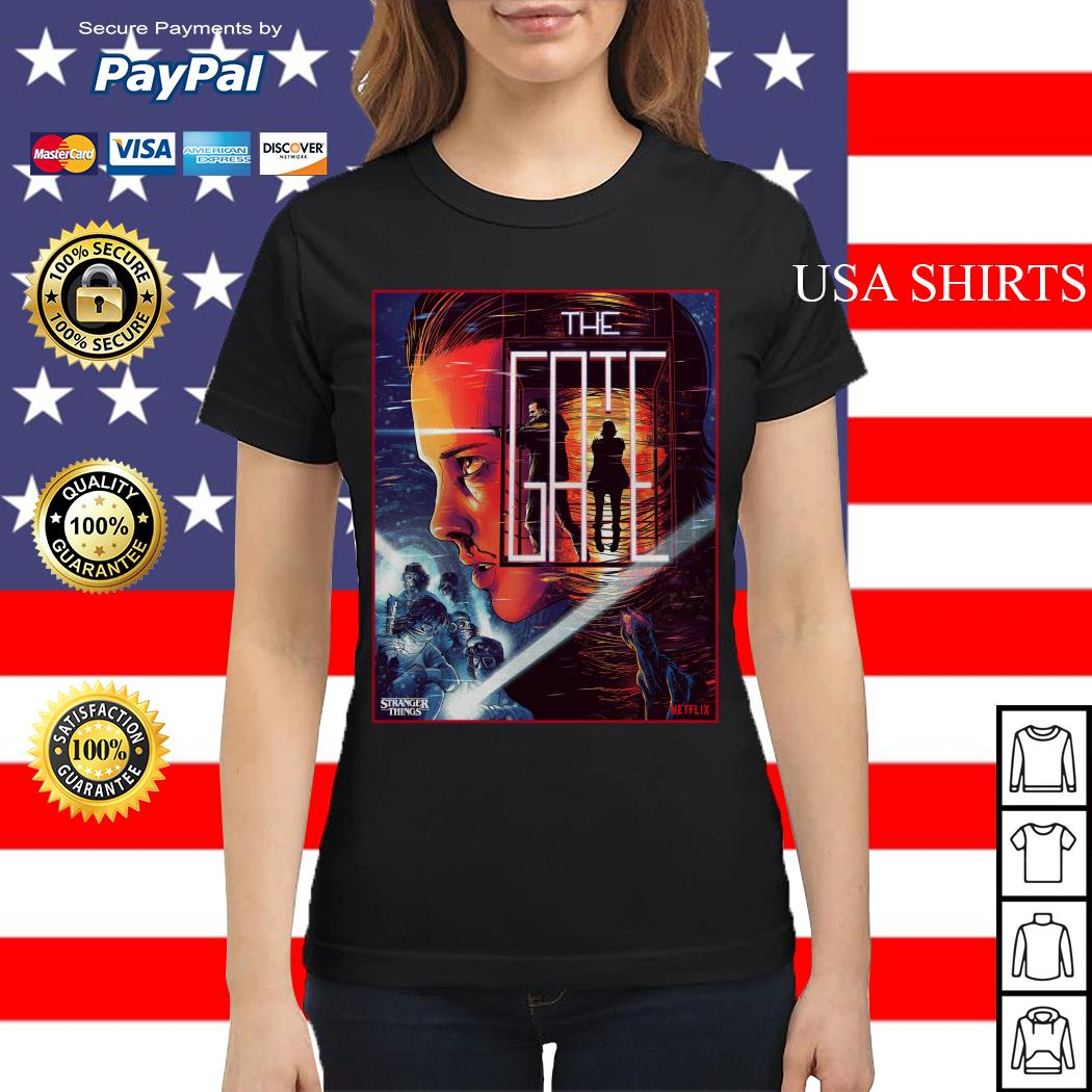 Stranger Things close the gate Ladies tee