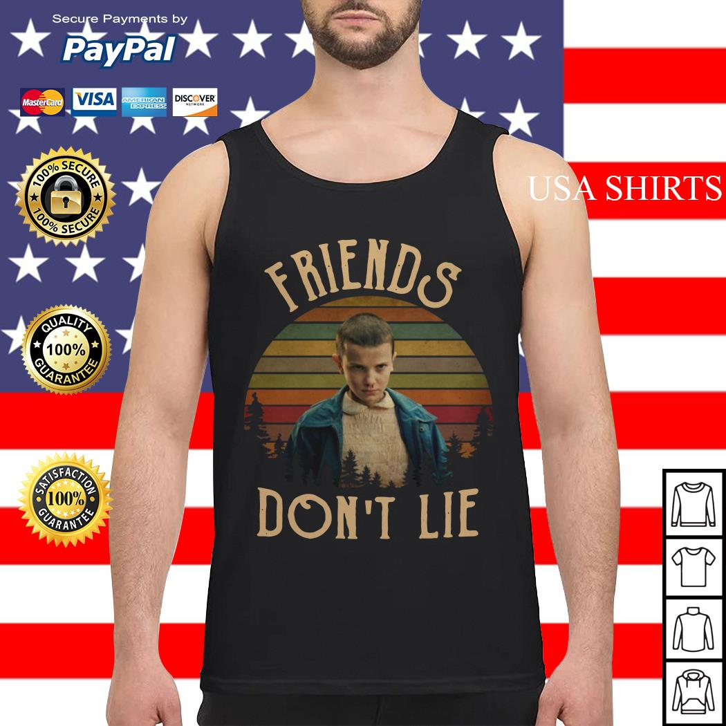 Stranger Things Eleven friends don't lie vintage Tank top