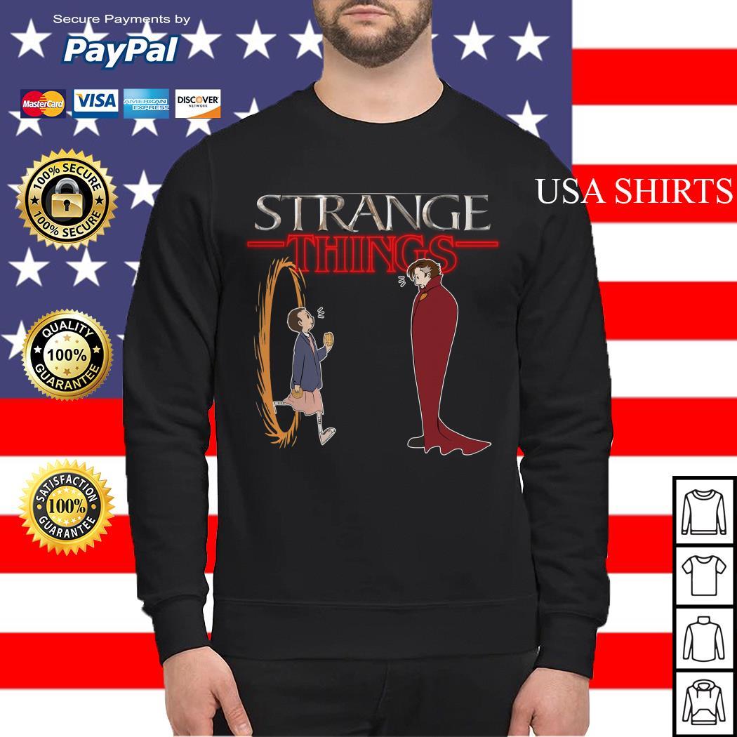 Stranger Things funny mashup Strange Things Doctor Strange Sweater